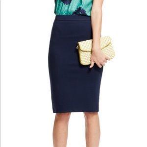 Anthro Boden Ponte Navy Blue Pencil Skirt 6